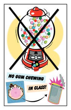 No Gum in My Classroom!