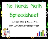 No Hands Math Spreadsheet