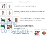 No Hands in my Pants-Social Story-Visual-Puberty-Autism Resource