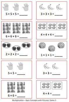 FREE Multiplication Games for Repeated Addition & Basic Concepts
