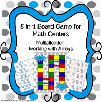 Multiplication Game: 5-in-1 Multiplication Arrays Games