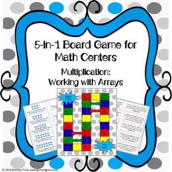 Multiplication Game: 5-in-1 Multiplication Arrays Games