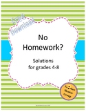 Finished With Homework? - student routines for middle school