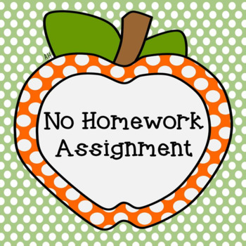 No Homework Assignment and Chart for Students who Miss Homework