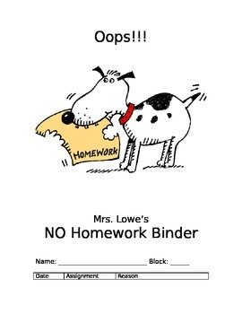 No Homework Binder