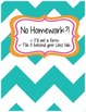 No Homework Binder Form