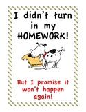No Homework Binder/ I Didn't Bring My Homework But It Won'