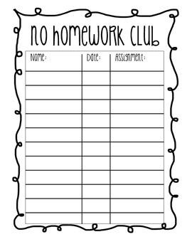 No Homework Club