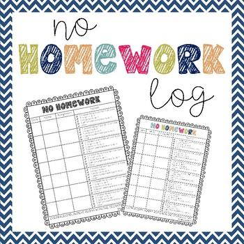Homework Log Teaching Resources | Teachers Pay Teachers