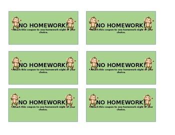 No Homework Monkey Coupons