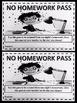 No Homework Pass
