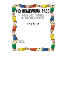 No Homework Pass: Free Incentive and Reward
