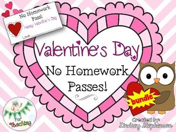 No Homework Pass - Valentine's Day Edition