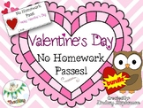 No Homework Pass - Valentine's Day Edition