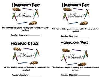 No Homework Passes