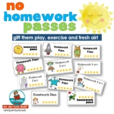 No Homework Passes [FREE Teaching Resource] | Class Management