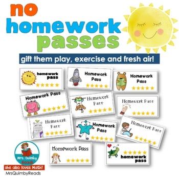 No Homework Passes [FREE Teaching Resource]   Class Management