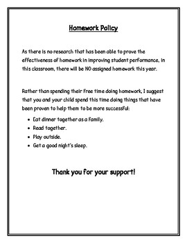 dodea homework policy letter