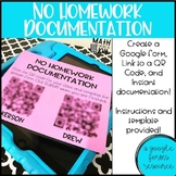 No Homework QR Code Documentation using Google Forms