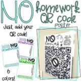 No Homework QR Code Poster