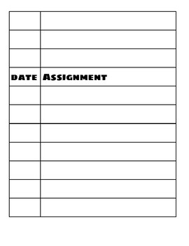 No Homework Sheet