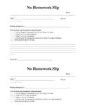 No Homework Slip