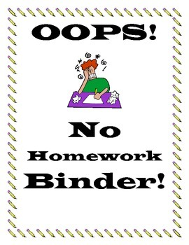No Homework Teacher Binder