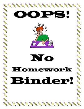 No Homework Teacher Binder
