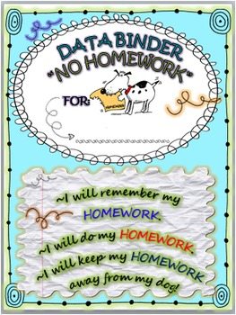 No Homework Think Sheet & Binder Insert