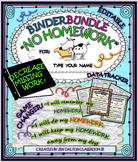 """NO HOMEWORK"" Think Sheet/Data Tracker & Binder"