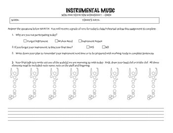 No Instrument Assignment