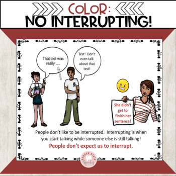 Interrupting Social Story for Middle and High School
