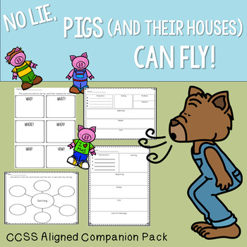 No Lie, Pigs (And Their Houses) Can Fly! Twisted Fairy Tale Book Companion Pack