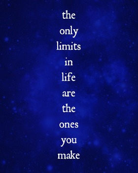 No Limits Printable Poster