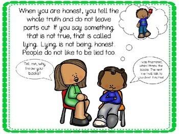 No Lying Social Story