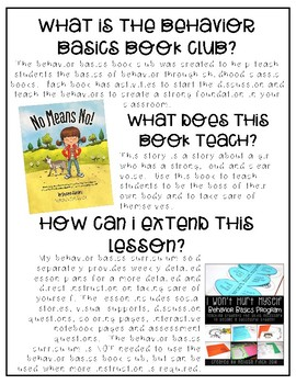 No Means No- Behavior Basics Book Club