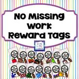 No Missing Work and Returned Homework Reward Tags