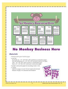 No Monkey Business Here (Bulletin Board)