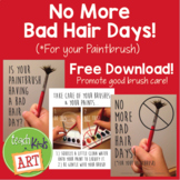 No More Bad Hair Days... for Your Paintbrush! 3 Posters fo