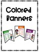 No More Boring Words Banners Superhero Theme Combo Pack Color and Black&White