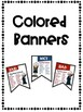 No More Boring Words BannersNautical Theme Combo Pack Color and Black&White