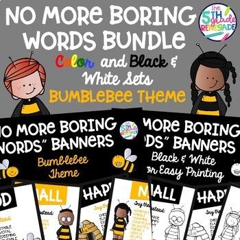 No More Boring Words Bumblebee Bee Theme Bundle