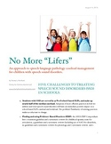 No More Lifers in Speech Therapy!