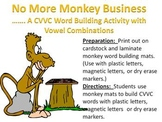 No More Monkey Business - A CVVC vowel combo word building