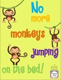 No More Monkeys Jumping on the Bed Pre-K Counting to Five Lesson