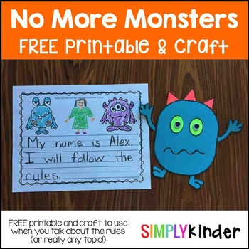 No More Monsters -  FREE Rules Activity!
