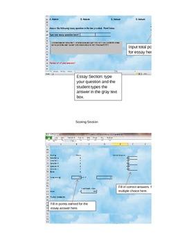 No More Paper Quizzes- Excel Grading Worksheets