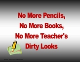 No More Pencil End of School Year Activity