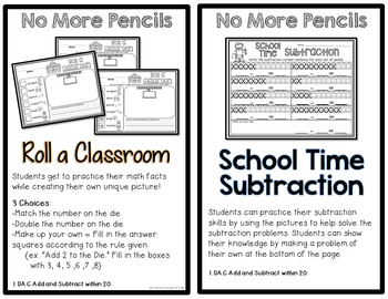 Sub Plans and Book Companion Activities ~ No More Pencils