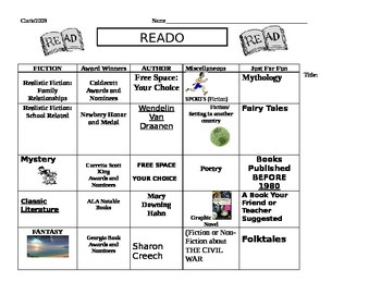 No More Reading Log! Help students read across the genres!
